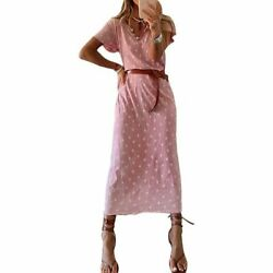 Long Dresses Cocktail Maxi Floral summer Women Dress Loose Long Sleeve Party $20.37