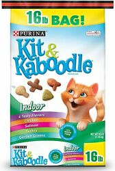 Purina Kit amp; Kaboodle Indoor Dry Cat Food Indoor 16 lb. Bag $20.00