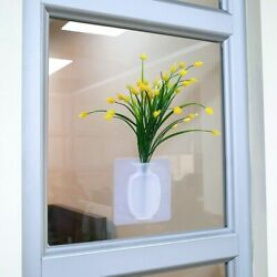 Vase Flower Silicone Plant Stick Wall Pot Container Home Modern Decorations $17.98