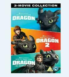 How To Train Your Dragon 1 3 Includes 3 Movies DVD3 Disc Fast shipping New $11.99