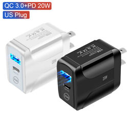 20W PD QC 3.0 Fast Wall Charger USB Power Adapter For iPhone 12 Pro Max Samsung $5.99