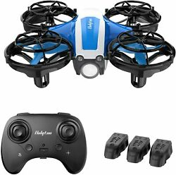 Holyton Mini Drone Kids Beginners Adults Hand Operated Remote Control Blue $43.99