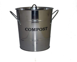 Exaco Trading Company CPBS 03 Small 2 in 1 Kitchen Compost Bucket Stainless Ste $33.05