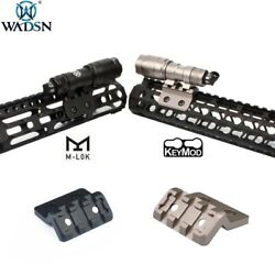 WADSN Tactical Flashlight Mount with 20mm Rail For M300 M600 Scout Light M LOK $20.96
