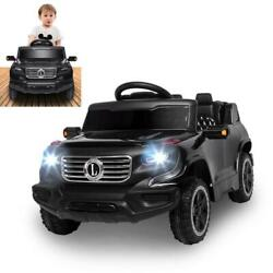 6V Kids Ride on Cars Electric Battery Car w Remote Control Horn Music Black $96.99