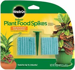Indoor Fertilizer Plant Food With 48 Spikes Fast Grow Plants Miracle Gro 1 Pack $9.78