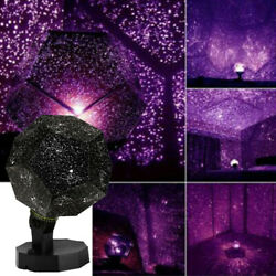 LED Galaxy Starry Night Light Projector Purple Star Sky Xmas Party Birthday Lamp $9.88