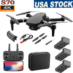 Cooligg FPV Wifi RC Drone With HD Camera Foldable Quadcopter Selfie 4K 1080P Toy $42.99