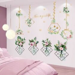 Wall Stickers Flowers Plants Hanging Orchid Decal Living Room Bedroom Decoration $32.98