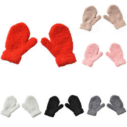 Thick Warm Baby Gloves Winter Velvet Mittens Child Kid Coral Fleece Full Finger $2.29