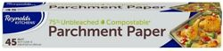 Universal Unbleached Parchment Paper For Cooking Compostable 45 Square Feet Roll $6.44