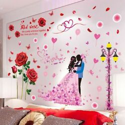 Wall Stickers Flowers Street Light Mural Decals Living Room Wedding Room Decor $25.98