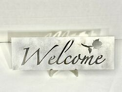 Welcome Sign Metal Art Decoration 4 x 12in $19.99