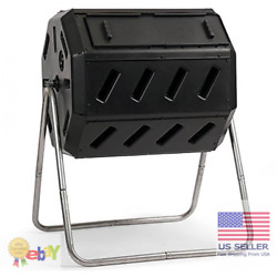 FCMP Outdoor IM4000 37 Gal Dual Chamber Quick Curing Tumbling Composter Soil Bin $125.16