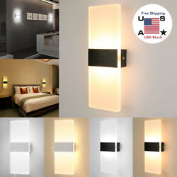 LED Wall Lights Modern Up Down Sconce Lighting Fixture Lamp Indoor Outdoor $22.98