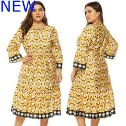 Party Cocktail Plus Size Floral Oversized Casual Evening Womens Dresses Dress $25.18