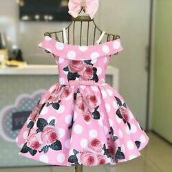 Baby Dress Summer Girl Clothes Newborn Toddler Cotton Print Short Sleeve Outfits $18.99