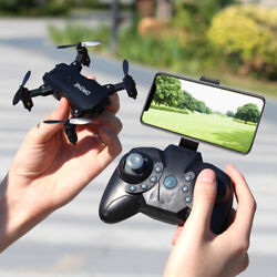 S107 Foldable Mini Drone RC 4K FPV HD Camera Wifi FPV Selfie RC Helicopter Toys $34.69
