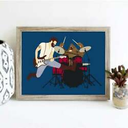Bear Print Music Poster Wall Art Decor Home Decor Style No Frame $19.80