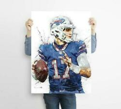 Josh Allen Buffalo Bills Poster Home Decor Style Wall Art Decor No Frame $17.80