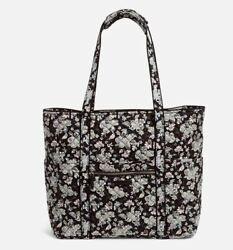 Vera Bradley Iconic Small Floral Black Holland Garden Baby Quilted Tote NEW $53.09