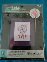 Cross Stitch Mini Kit Artiste Blue Dreamcatcher New sealed 4.63x6.63quot; $5.99