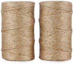 Natural Jute Rope Twine String for Gift Craft Garden Gardening 656ft 2 Pack $12.99