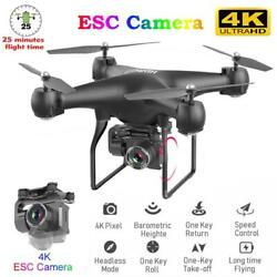 Rc Drone Quadrocopter Uav With Camera 4k Profesional Wifi Wide angle Aerial Phot $99.99