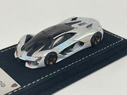 1 64 MR Collection Lamborghini Terzo Millennio Chameleon White Alcantara IN STOC $119.95