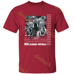 RARE Alabama Crimson Tide 2021 National Championship 18 Times Champion T Shirt $19.23