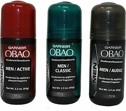 OBAO Assorted Deodorant for Men Pack of 3 $12.95
