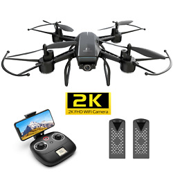DEERC D50 Drone 2K UHD Camera FPV Live Video Quadcopter for Adults 2 Batteries $61.99