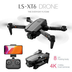 LS XT6 RC Drone WiFi FPV 4K HD Dual Lens Camera Selfie Drone Foldable Quadcopter $42.13