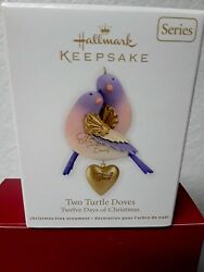 TWO TURTLE DOVES 2012 HALLMARK ORNAMENT 12 DAYS OF CHRISTMAS NIB $16.99