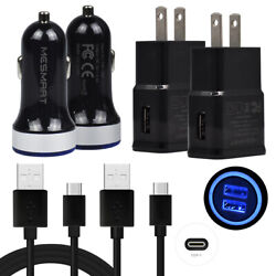 For LG Stylo 5 4 G8 G7 V35 ThinQ V30s G6 Fast Car Plugamp;Wall Charger 6FT Cable $6.64