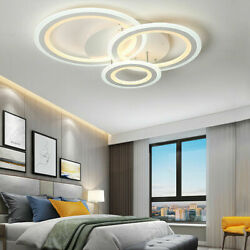 Modern 3 Rings Ceiling Lamp Led Chandeliers Living Room Bedroom Lighting Decor $222.57