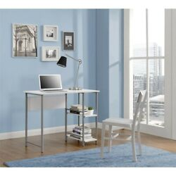 Mainstays Basic Metal Student Computer Desk Silver with White $100.00