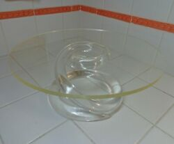 Vtg Mid Century Dorothy Thorpe Lucite Spiral Cake Stand Clean amp; Shiny $55.99