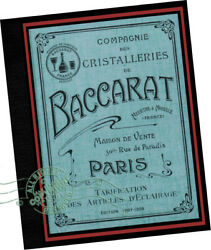 Baccarat 1908 Glass Catalogue * Lighting Lamps Chandelier fittings samples $238.95