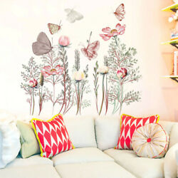 Beautiful Butterflies Wall Stickers Flowers Bouquet Living Room Free Shipping $12.98