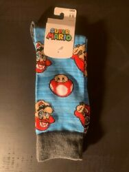 Super Mario Mario and Toad Novelty Socks Socks Size 10 13 Shoe Size Mens 8 12 $7.99