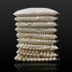 Loose Round White Or Beige Pearl Beads For DIY Fashion Jewelry Making Art Crafts $2.77