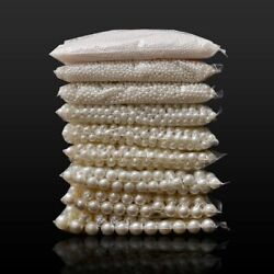 Loose Round White Or Beige Pearl Beads For DIY Fashion Jewelry Making Art Crafts $2.86