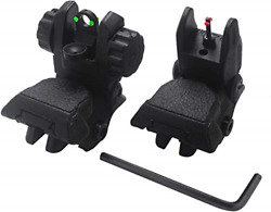 AWOTAC Polymer Black Fiber Optics Iron Sights Flip up Front and Rear Sights with $28.41