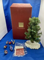 Lenox 12quot; Christmas Tree Table Top with 6 Holiday Birds Ornaments Very Rare $89.98