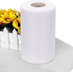 Tulle Rolls 6 Inch X 200 Yards 600Ft White Tulle Fabric Spool Roll Wedding $20.99