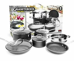 Granite Rock 10 Piece Nonstick Ultra Durable Complete Cookware Set NEW $37.99
