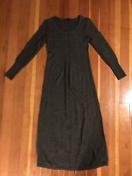 Peruvian Connection Small Long Sleeve Cotton Sweater Maxi Dress Green *FLAW* $15.00