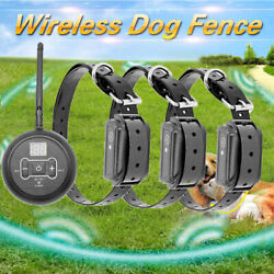 Wireless Electric Dog Fence Pet Containment System Shock Collars For 1 2 3 Dogs $22.95