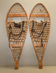 Vintage snowshoes 13 x 38quot; antique collectible cabin decor or display lot $119.99